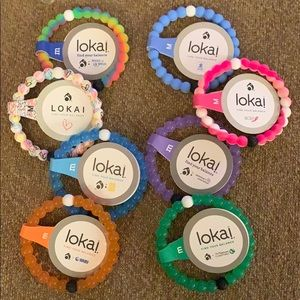Lokai 8 charity bracelet bundle $144 value, sz med